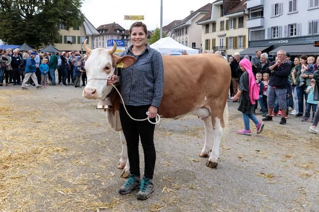 Chästag Solothurn 2019: Miss Chästag Publikum 2019: Miranda von Züchter Erhard Probst Mümliswil