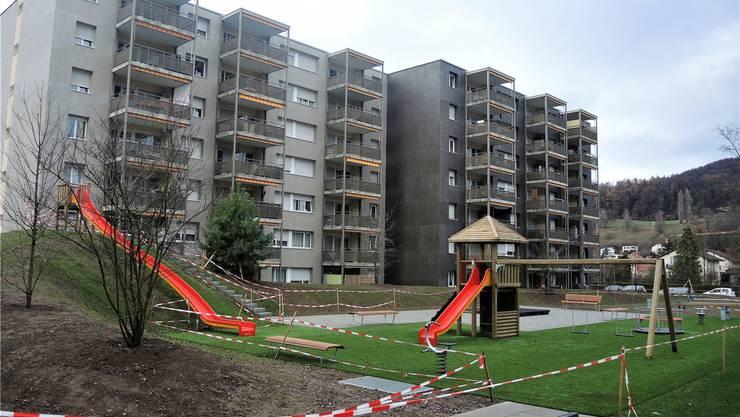 Neuer Spielplatz statt alter Kindergarten: Über der Bauhalde-Tiefgarage spielen auch in Zukunft wieder Kinder.