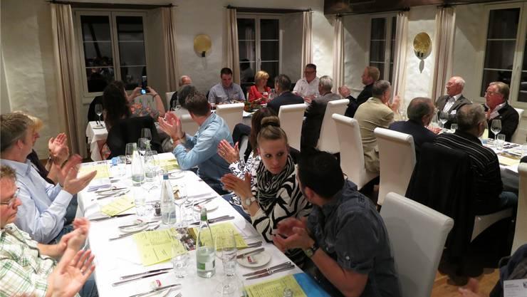 Die Mitglieder und Gäste des Gewerbevereins trafen sich im Leuen Uitikon.