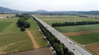 Hier soll die Autobahn ausgebaut werden – auf Kosten von Landwirtschaftsland. (Archiv)