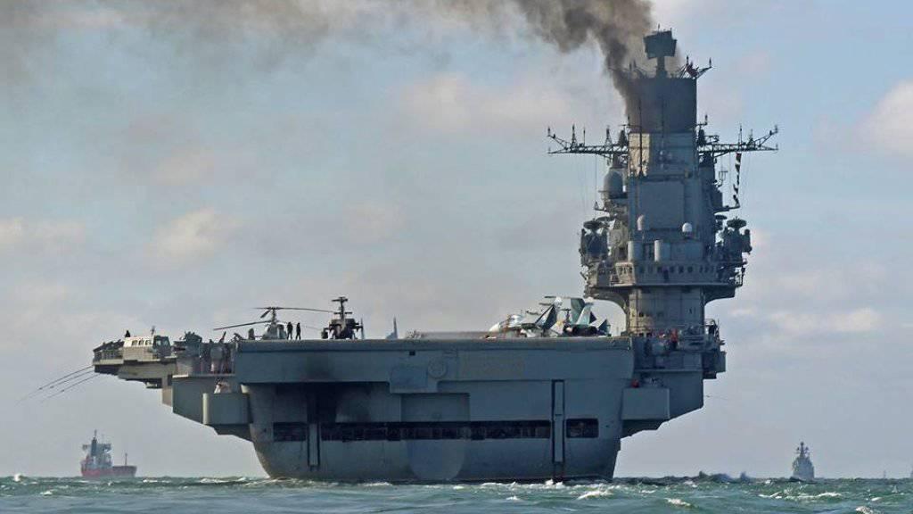 Die russische Truppenreduzierung beginnt mit dem Flugzeugträger «Admiral Kusnetzow» (Archiv)