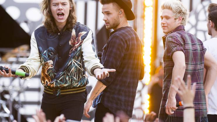 One Direction in action (von links): Harry Styles, Liam Payne, Niall Horan und Louis Tomlinson (Anfang August in New York).