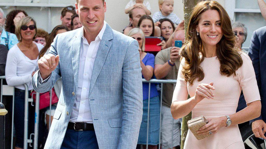 Prinz William und Gattin Kate am Donnerstag in Truro (Cornwall), wo sie Jugendliche ermunterten, sich Zeit zu nehmen für die Berufswahl.
