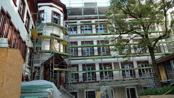 Die Baustelle der renovierten Bibliothek konnte besichtigt werden.