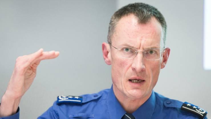 Departementsvorsteher Polizeiliche Sicherheit Oberst Dr. Michael Leupold war verantwortlich für einen Teil der Anti-Terrorübung.