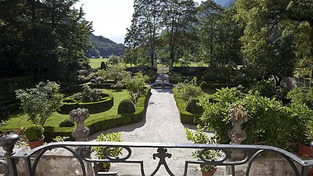 Garten des Palazzi de Salis in Bondo