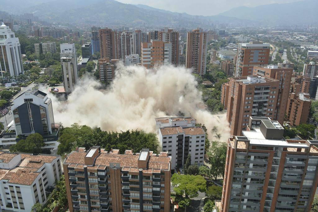 Hier wird Escobars Haus gesprengt (© Keystone)