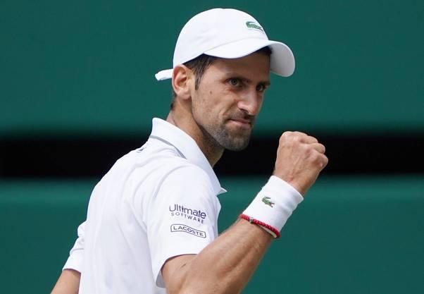 Titelverteidiger Djokovic steht zum sechsten Mal im Wimbledon-Final.