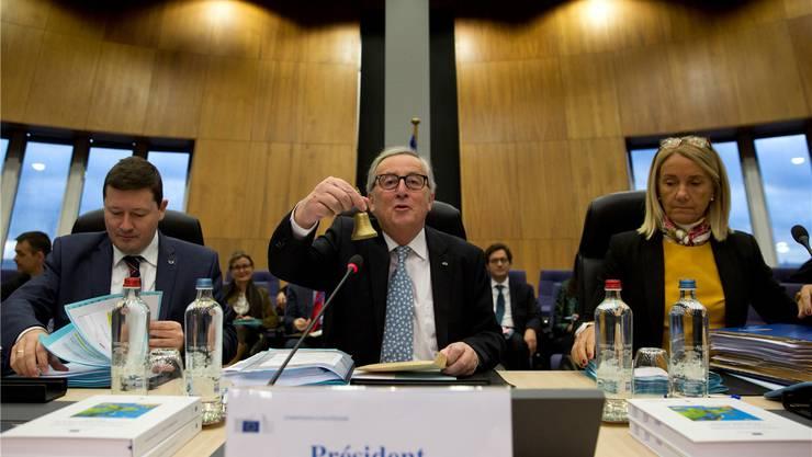 Präsident Jean-Claude Juncker und seine EU-Kommission bereiten sich auf einen «Chaos-Brexit» vor.Virginia Mayo/AP/Keystone