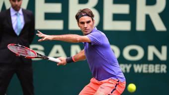 Roger Federer steht in Halle im Halbfinal
