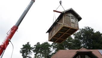 Bienenhaus zügeln von Balm nach Lüterswil