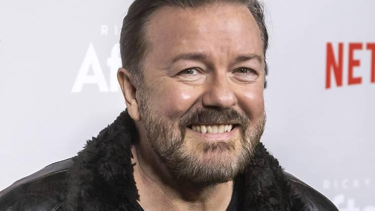 Für seinen bissigen Humor bekannt: der britische Komiker und Schauspieler Ricky Gervais. (Archivbild)
