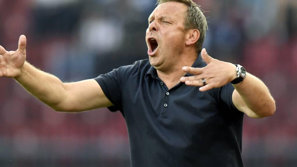 Trainer André Breitenreiter treibt seine FCZler von Sieg zu Sieg
