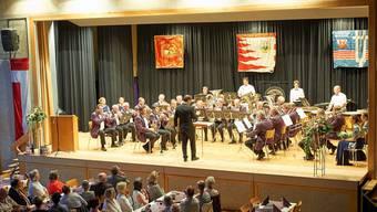 Die Brass Band Harmonie Wolfwil feierte ihr 150-Jahr-Jubiläum unter anderem mit einem Festakt in der Mehrzweckhalle.