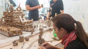 Den Künstlern der «Flatterschafft» konnten die Besucher am Wochenende bei der Arbeit zusehen.