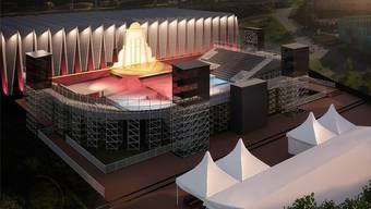 Nächsten August wird die Sporthalle Mülimatt ins Bühnenbild der Giuseppe-Verdi-Oper«Rigoletto» integriert.
