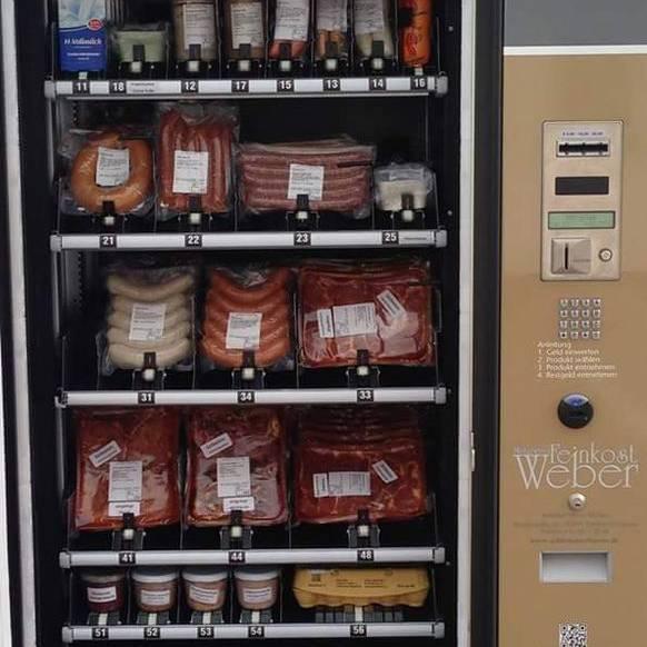 Wurst-Automat: Er steht in Deutschland und verkauft Würste.