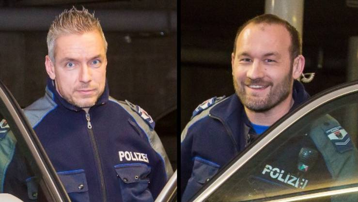 Die Polizisten Roman Weiss (l.) und Marc Amsler.