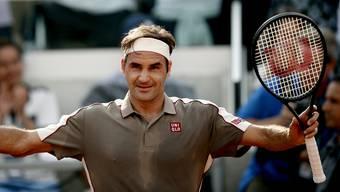 Nach 3 Stunden und 35 Minuten der Sieger im Schweizer Duell: Roger Federer steht zum 44. Mal mindestens in den Halbfinals eines Grand-Slam-Turniers.