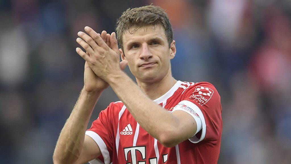 Thomas Müller verletzte sich in Hamburg am Oberschenkel