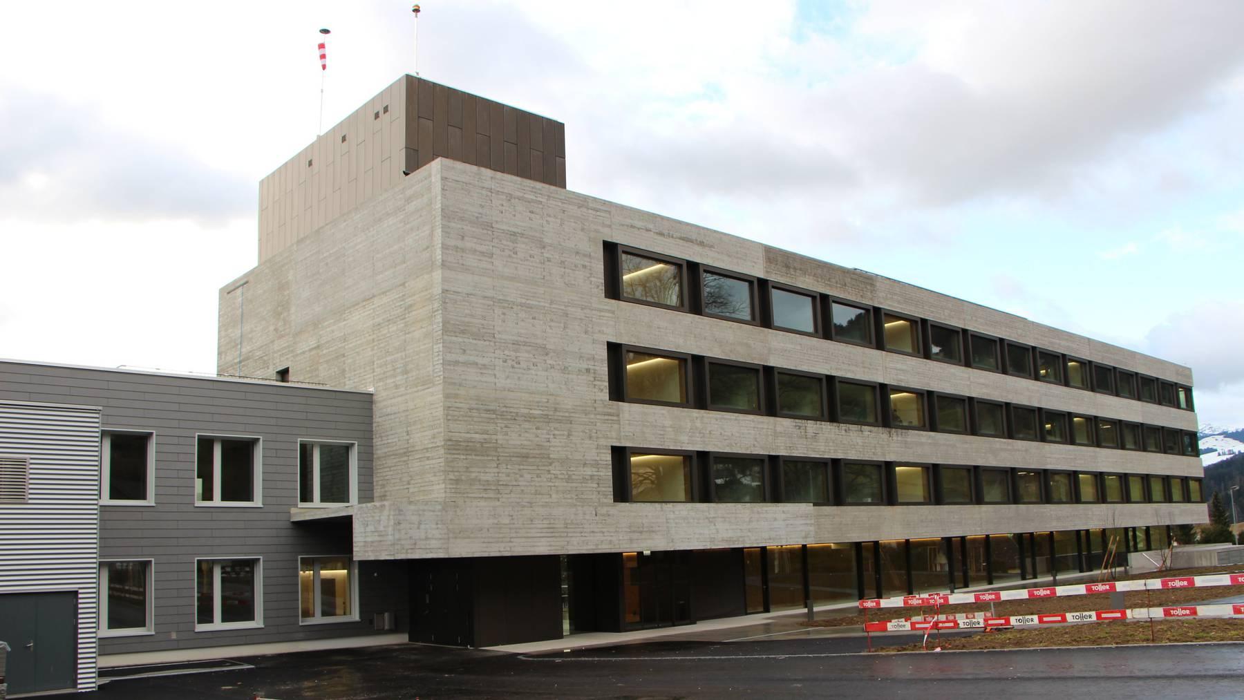Der Neubau des Spitals Wattwil.