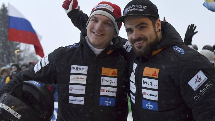 Clemens Bracher (links) gewinnt im Europacup in Innsbruck (Archivbild)