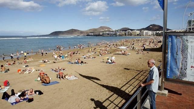 Der Strand Las Canteras in Las Palmas (Symbolbild)