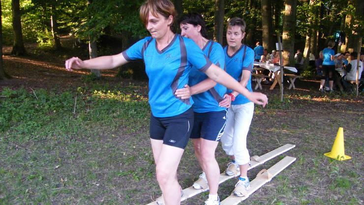 Sommerskifahren war einer der Plauschwettkämpfe am Balsthaler Vita-Parcoursfest.