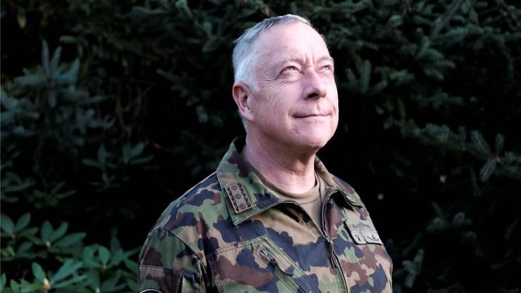 Erhält seine Verdienste in Buchform gewürdigt: André Blattmann, abtretender Chef der Armee.Mario Heller