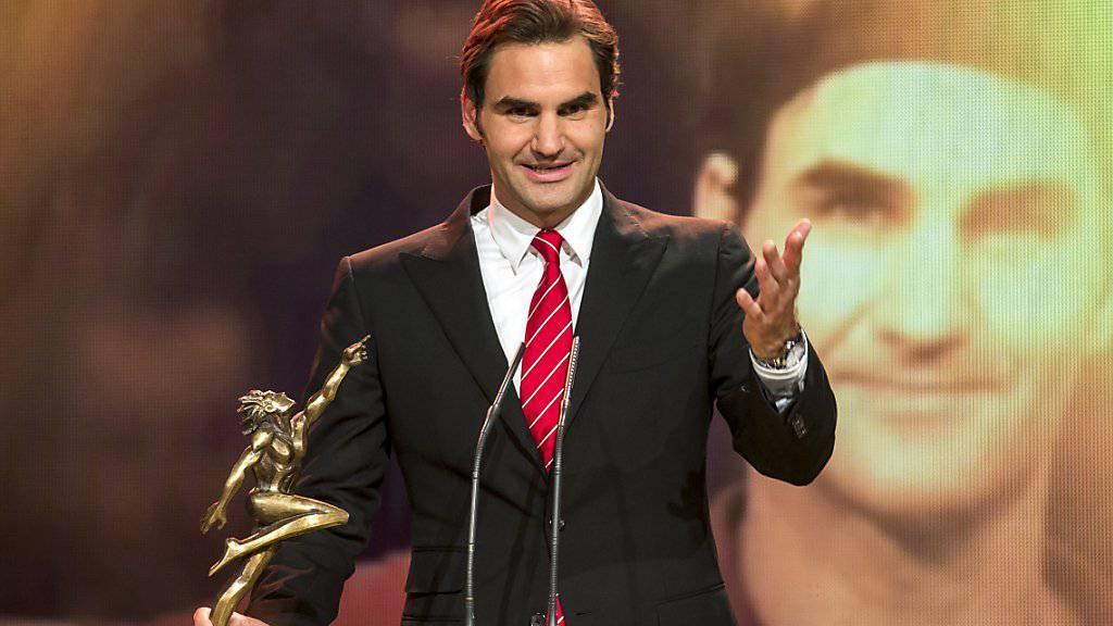 Roger Federer - im Bild nach seinem Sieg vor einem Jahr - hat heute Abend an den Sports Awards die Chance, zum siebten Mal seit 2003 Sportler des Jahres zu werden