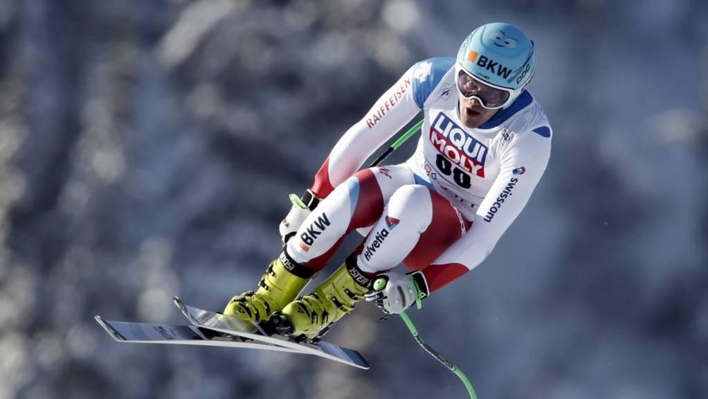 Stefan Rogentin fährt im ersten Training von Bormio auf Platz 7