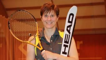 Die ehemalige Freestyle-Olympiasiegerin Evelyne Leu nimmt erstmals an den Aargauischen Tennismeisterschaften teil.  Kae Die ehemalige Freestyle-Olympiasiegerin Evelyne Leu nimmt erstmals an den Aargauischen Tennismeisterschaften teil.  Kae