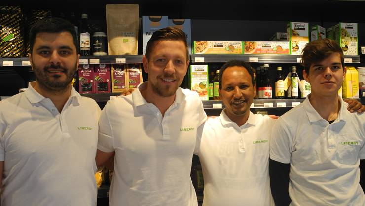 Das Team (von links): Ali Alkan, Inhaber Pascal Bättig, Dawit Manna und Gian Braun.