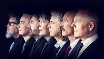 Treten im Juli im römischen Theater auf: King Crimson um Robert Fripp (r.)