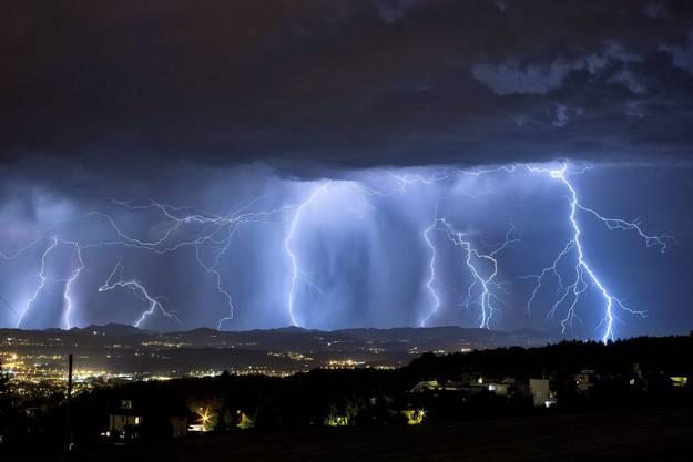 Gewitter über Zürich.