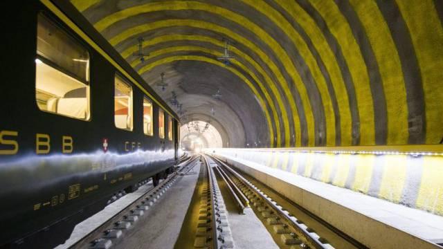 Blick in den Weinbergtunnel (Archiv)