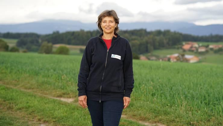 Mili Marti ist «Vollblut»- Spitexfrau. Im ländlichen Bucheggberg ist es eine Herausforderung für die Spitex, die Touren so zu legen, dass möglichst wenig Fahrzeit benötigt wird.