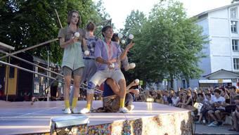 Auftritt Zirkus Chnopf Kreuzackerplatz (02.08.2020)