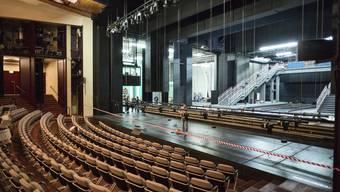 Theater Basel kurz vor der Wiedereröffnung nach der Sanierung 2015