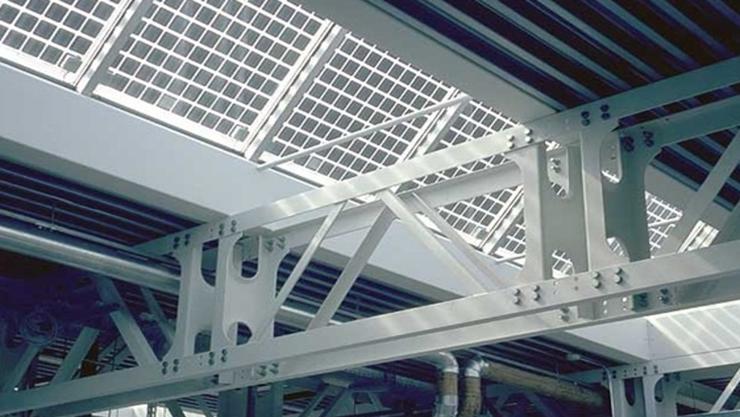 Oblicht mit Solarzellen  Kanti Solothurn