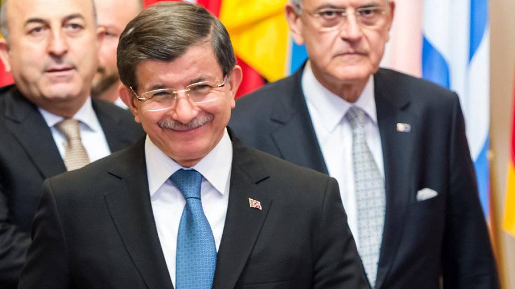 Der türkische Ministerpräsident Ahmet Davutoglu am Montag in Brüssel.