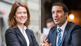 Parteipräsidentin Petra Gössi und Vizepräsident Andrea Caroni.