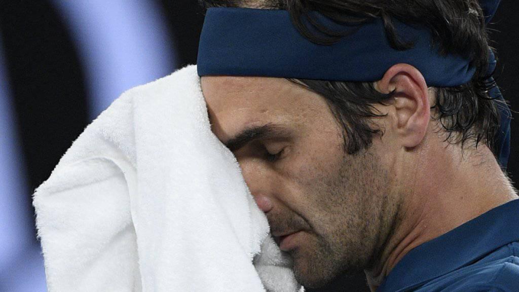 Fand kein Mittel gegen den jungen Griechen Stefanos Tsitsipas: Roger Federer scheiterte in Melbourne bereits im Achtelfinal