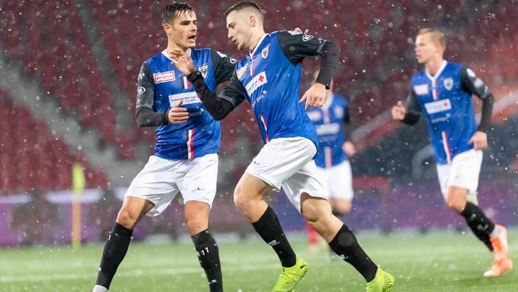 Der FC Aarau ist in der ersten Halbzeit die bessere Mannschaft.