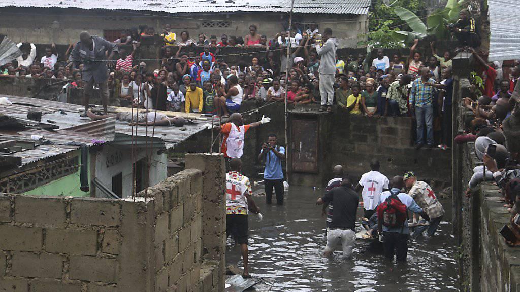 Im Kongo sind aufgrund von starken Regenfällen zahlreiche Menschen ums Leben gekommen.