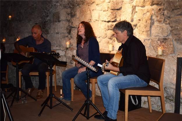 Hanspeter Dubach, Franziska Ackermann und Urs Nussbaumer schlagen im Il Grano sanfte Töne an.