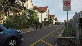 An der Bachmattstrasse ist Schleichverkehr verboten.