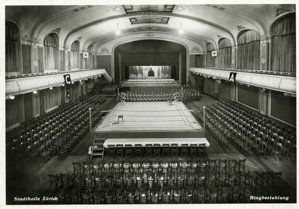Neben Maskenbällen, Autosalons und Velobörsen fanden im Saal auch Kämpfe des Zürcher Boxclubs statt.