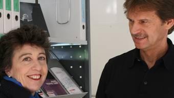 Susanne Mauerhofer und Martin Ziltener bei «ask!».