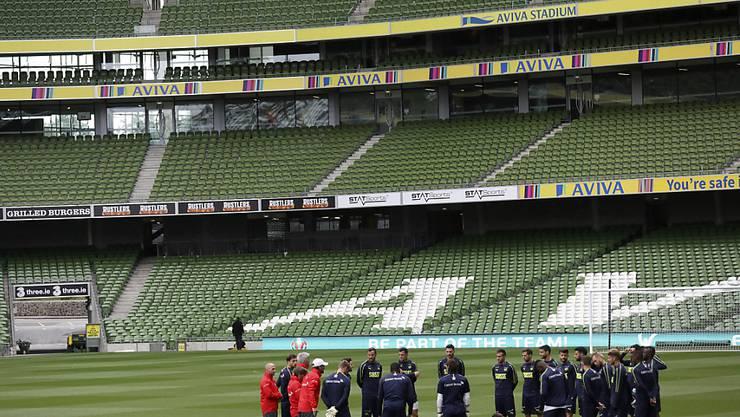 Einschwören auf Irland: Das Schweizer Nationalteam steht in Dublin vor einem schwierigen Match
